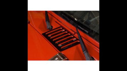 Kentrol 80583 Jeep Wrangler JK Black Stainless Steel Hood Vent Textured 07-14