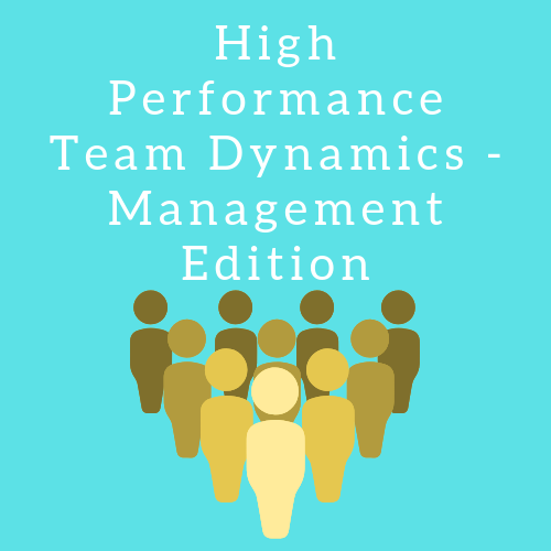 High Performance Team Dynamics  Management Edition