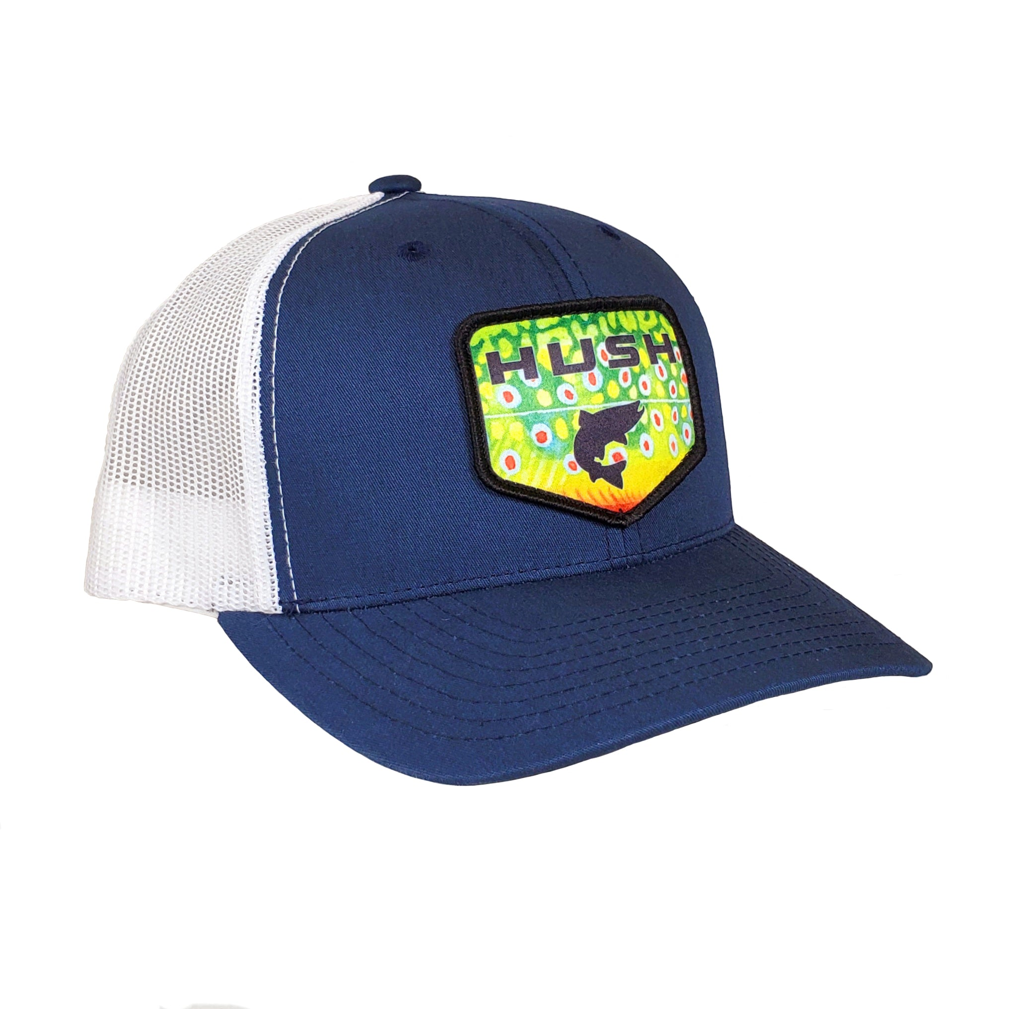 Blue and white uinta brook trout hat
