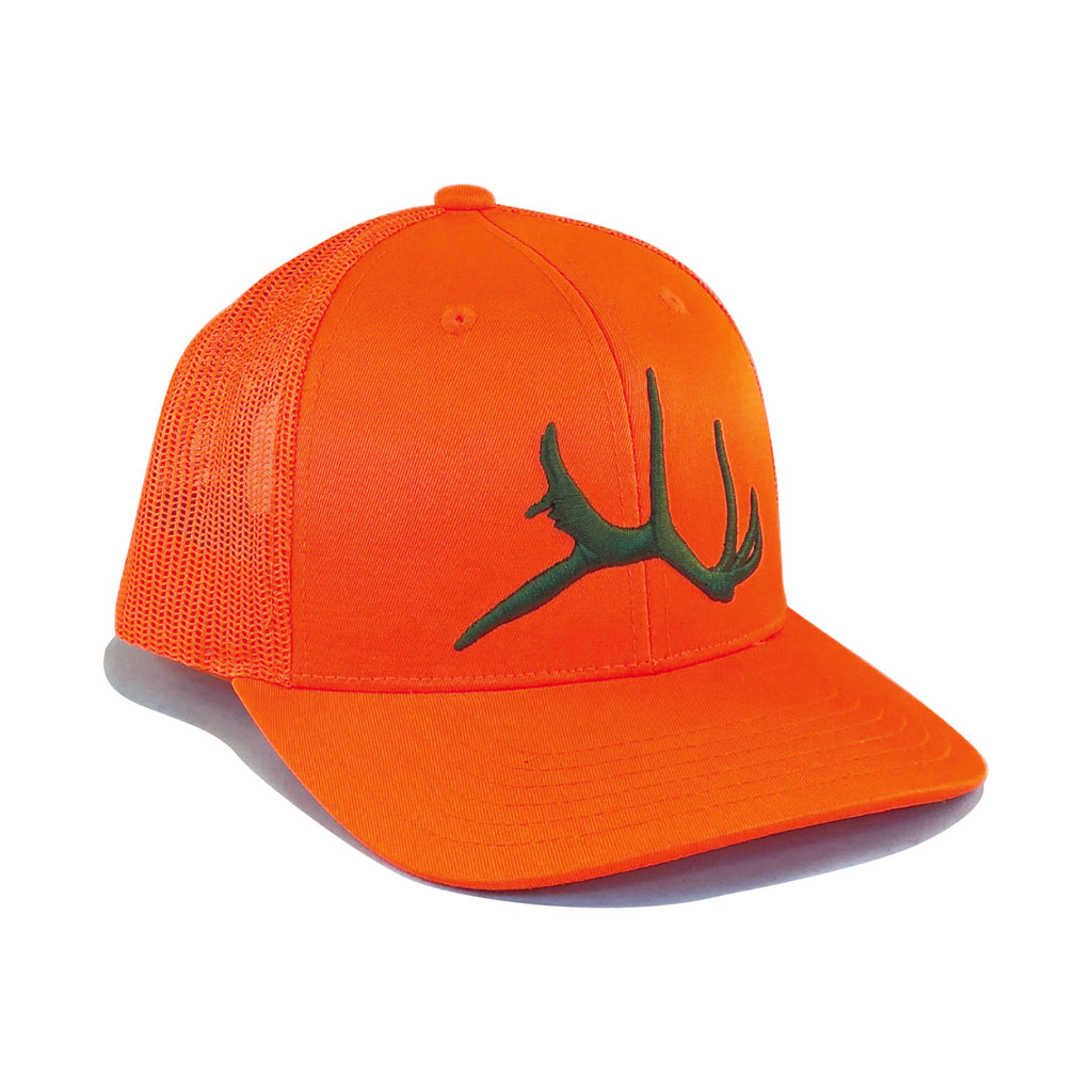 orange hush blaze odd six hat