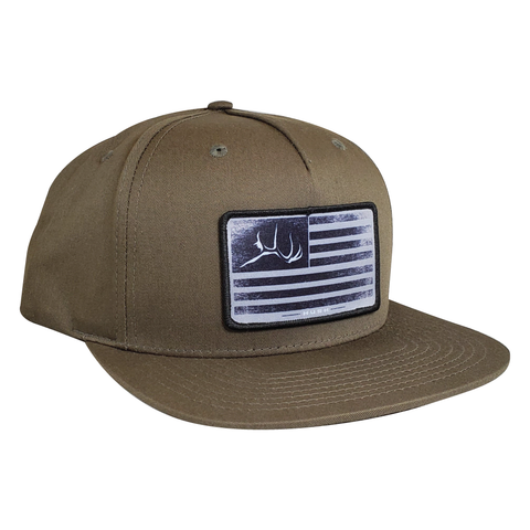 Military green firebull flag hat