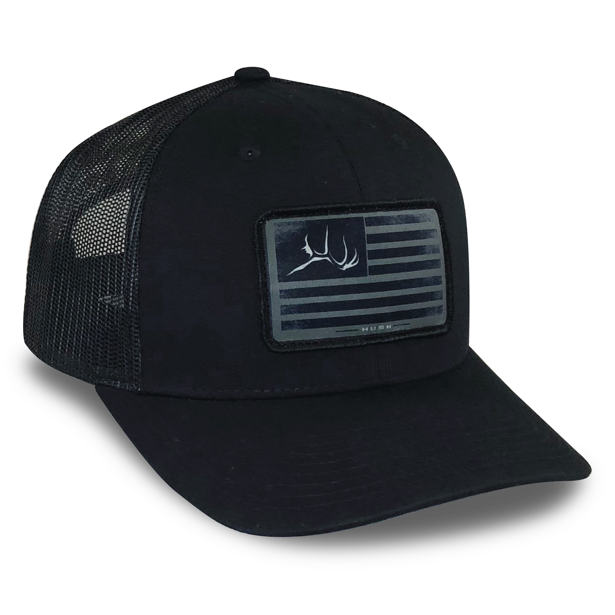 Black firebull flag hat