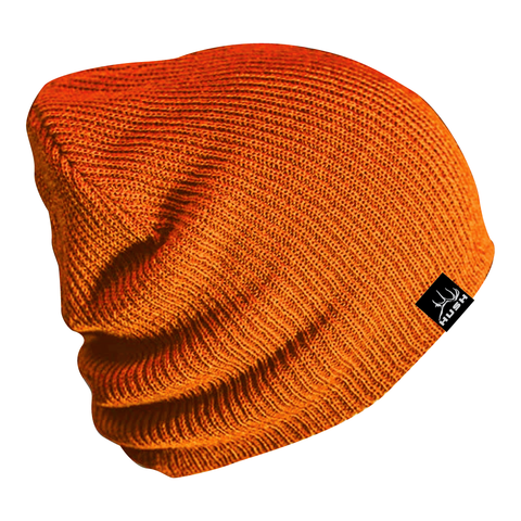 Blaze orange slouch beanie