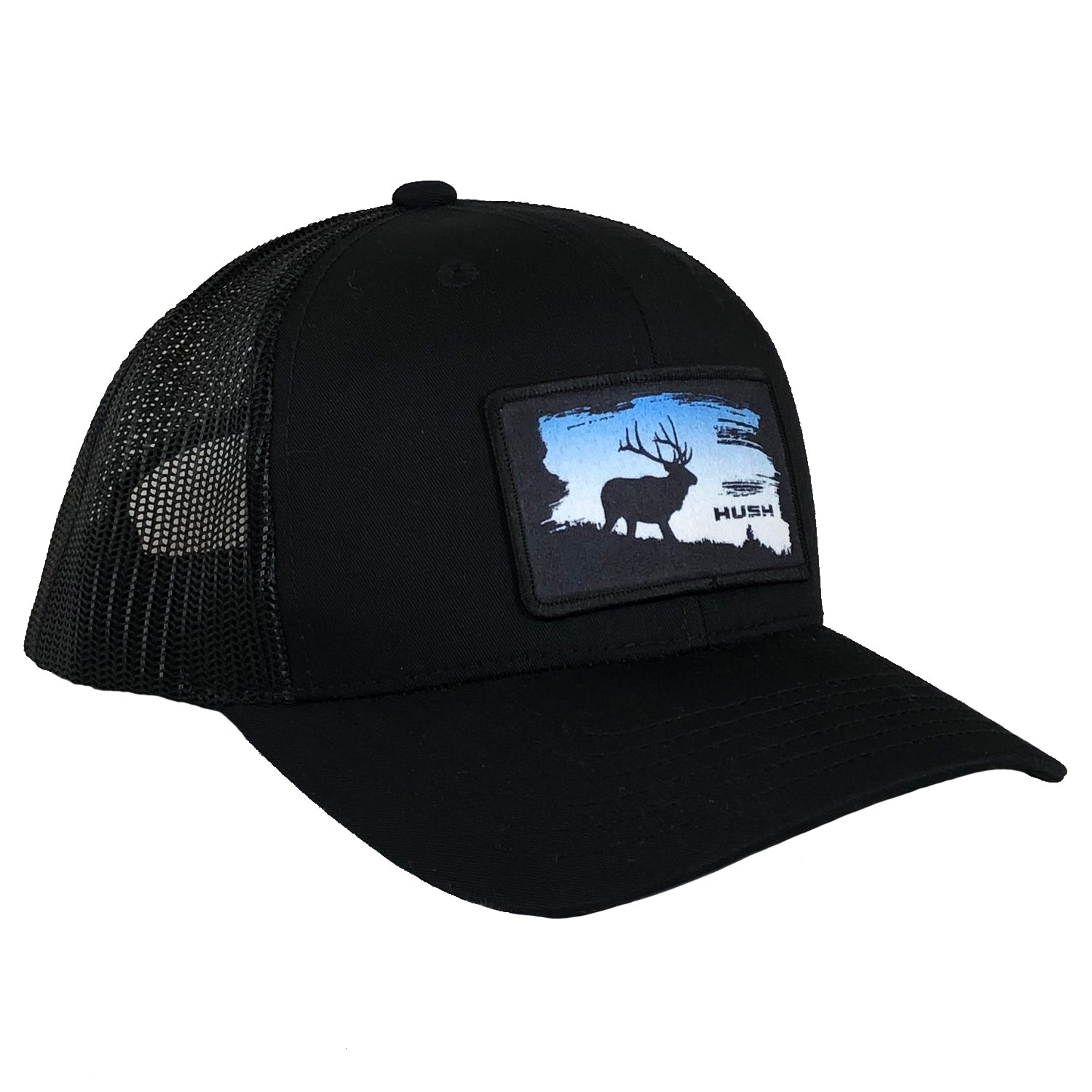 Black straight seven bent brim