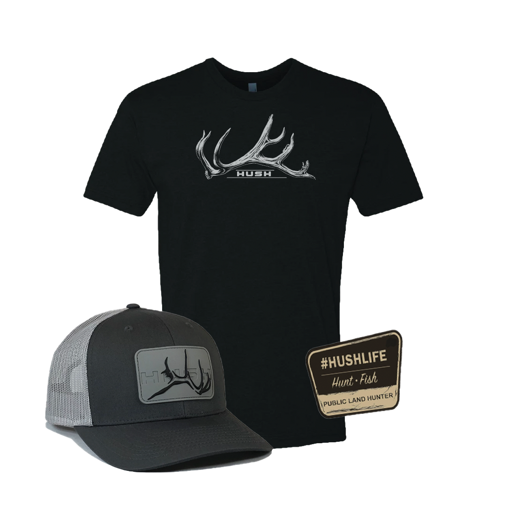 Black shirt with grey hat with decal denali bundle