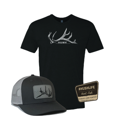 Denali Hat + First Bull Tee + Public Land Hunter Decal Discounted Bundle