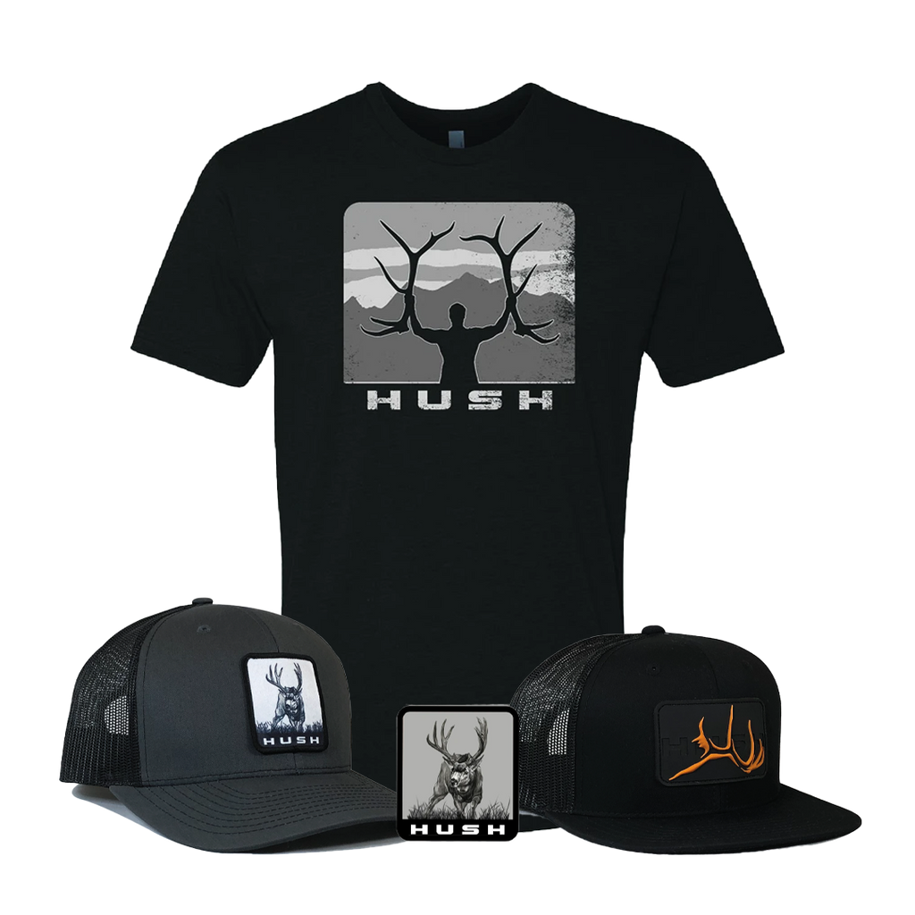 775 bundle black shirt grey hat black hat decal