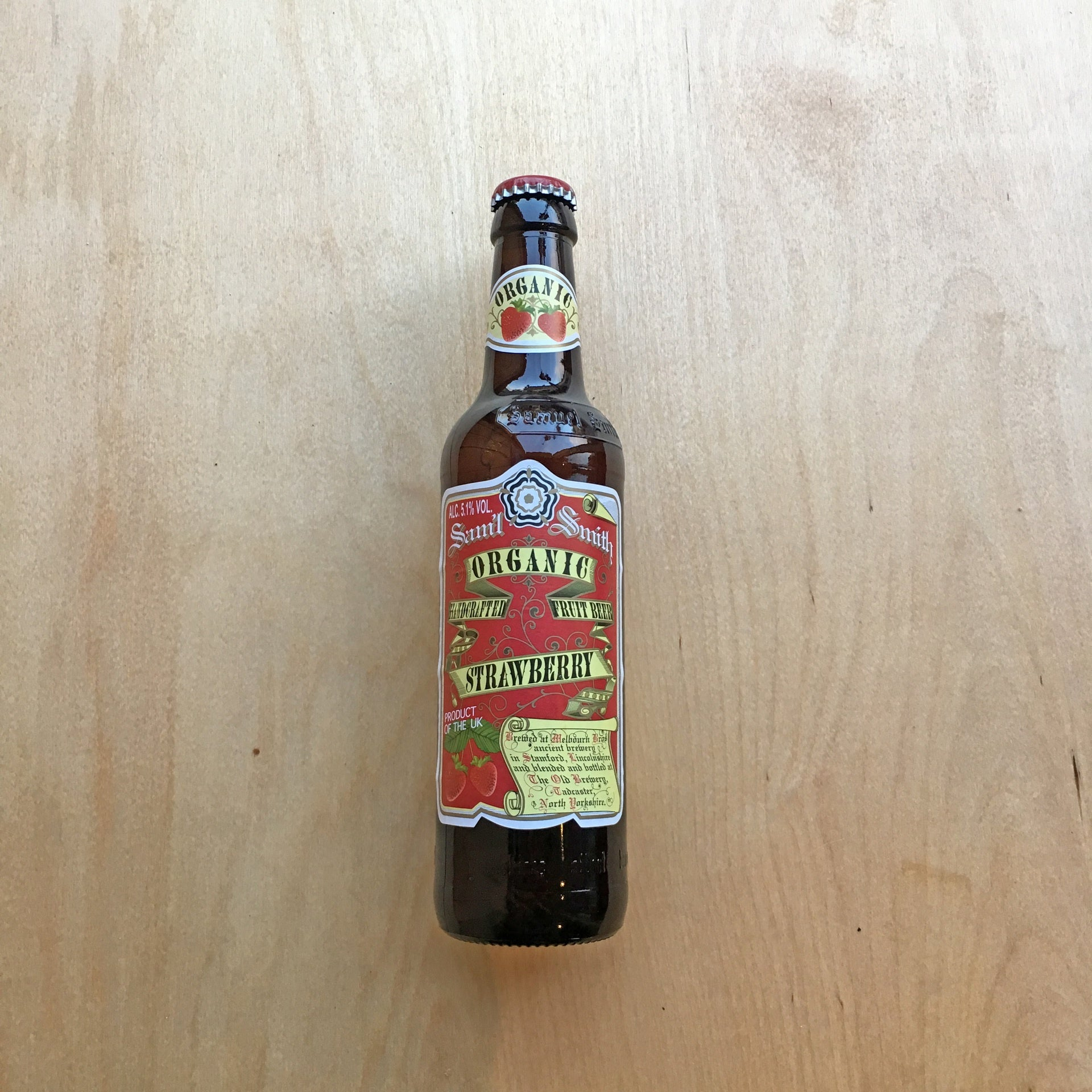 Samuel Smith's Organic Strawberry Beer 5.1% (355ml)