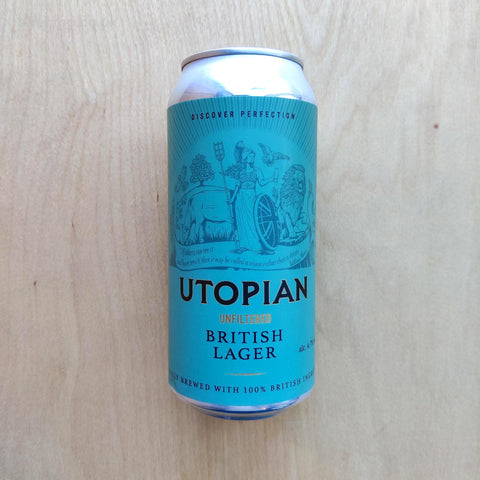 Utopian - Unfiltered British Lager 4.7% (440ml)