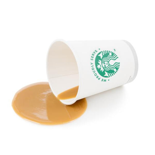 FAKE SPILLED TAKEOUT COFFEE