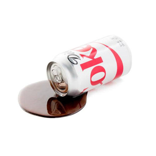 FAKE SPILLED DIET SODA CAN