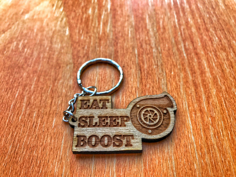 Eat Sleep Boost Keychain