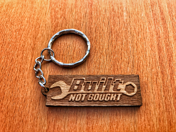 Built Not Bought Keychain