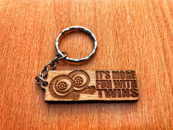 It's More Fun With Twin Turbos Keychain