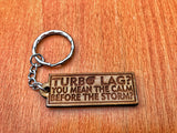 Turbo Lag Calm Before The Storm Keychain