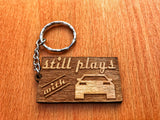 Still Plays With Cars Keychain
