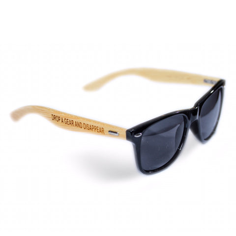 Drop a Gear and Disappear Bamboo Sunglasses