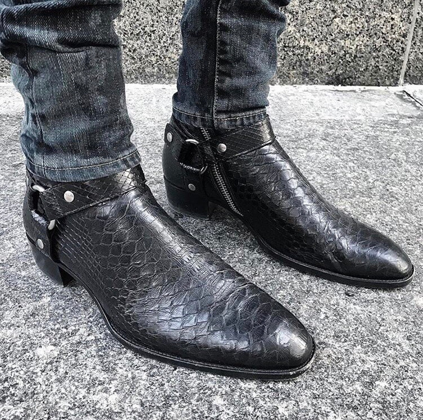 Saint Laurent Bottes Saint Laurent Wyatt Yhp6MOnSb