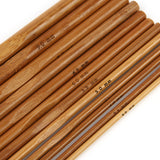 Bamboo Crochet Hook 12 Set Size Ranges From 1/8 Inch(3mm) To 3/8 Inch(10mm) Smooth Carbonized
