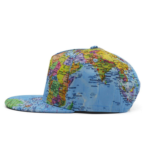 World Map Baseball Cap