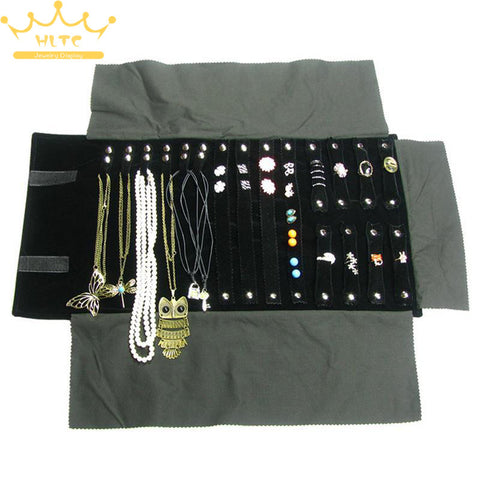 Folding Velvet Travel Jewelry Organizer