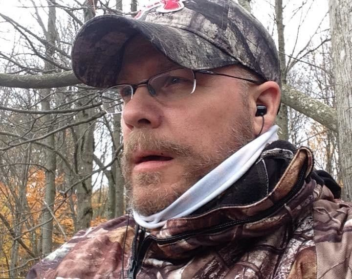 In the tree stand and it's in the 40's and I am nice and warm!