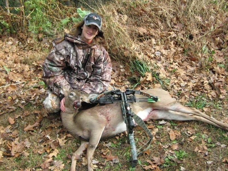 IWOM kept Tammy warm enough to make her first bow kill