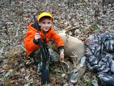 My 7 year old son and the IWOM XT Full Body Hunting System