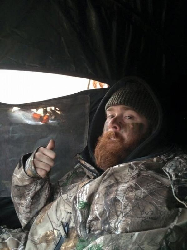Opening day of rifle season in northern Alberta. Staying toasty in my IWOM!