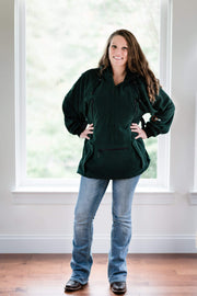 "IWOM Outerwear LLC Fleece Green / 5'2""-5'8"" / Small-Medium IWOM Convertible Fleece Hoodie (Tradeshow Demo)"