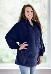 "IWOM Outerwear LLC Fleece Navy Blue / 5'2""-5'8"" / Small-Medium IWOM Convertible Fleece Hoodie (Tradeshow Demo)"