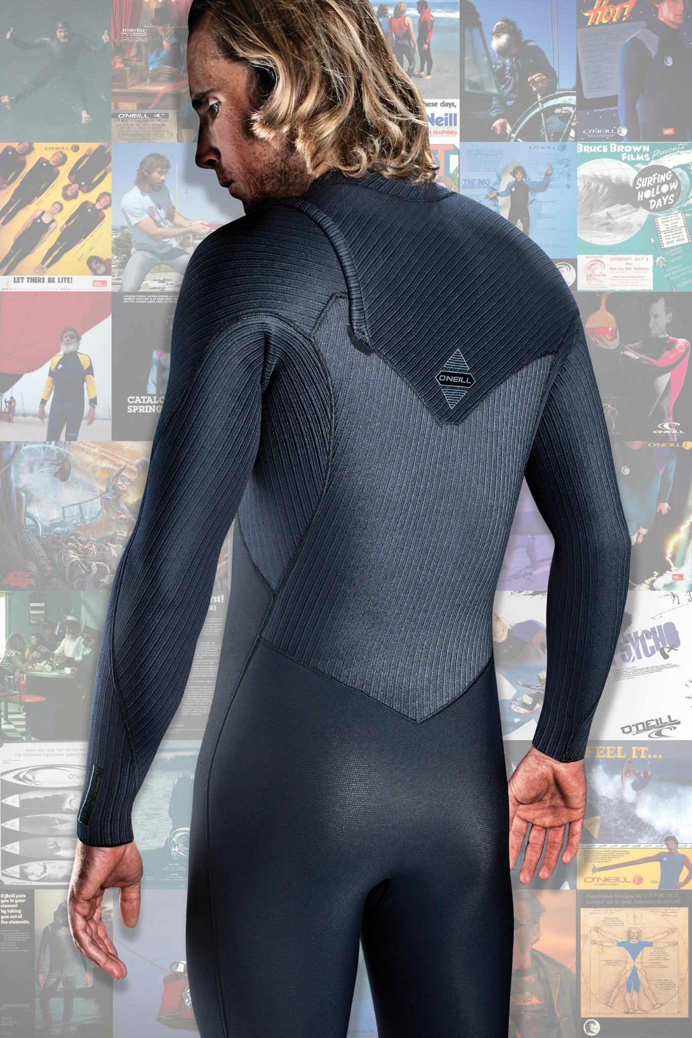 Hyperfreak 3/2Mm Comp Zipless Full Wetsuit - Black/Black | O'Neill