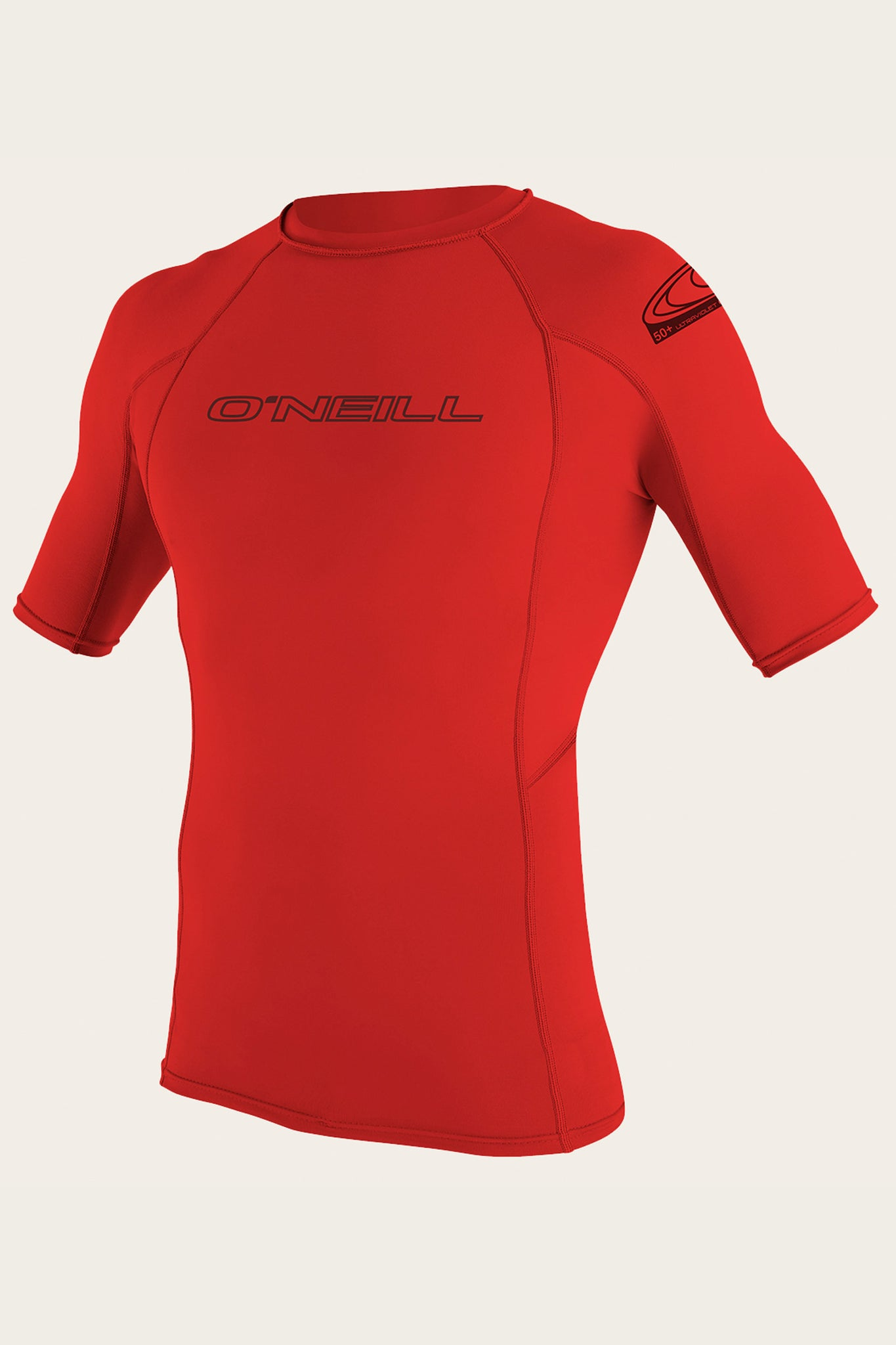 Basic Skins 50+ S/S Rash Guard - Red | O'Neill