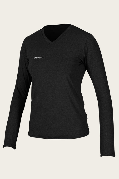 WOMEN'S HYBRID L/S V-NECK SUN SHIRT