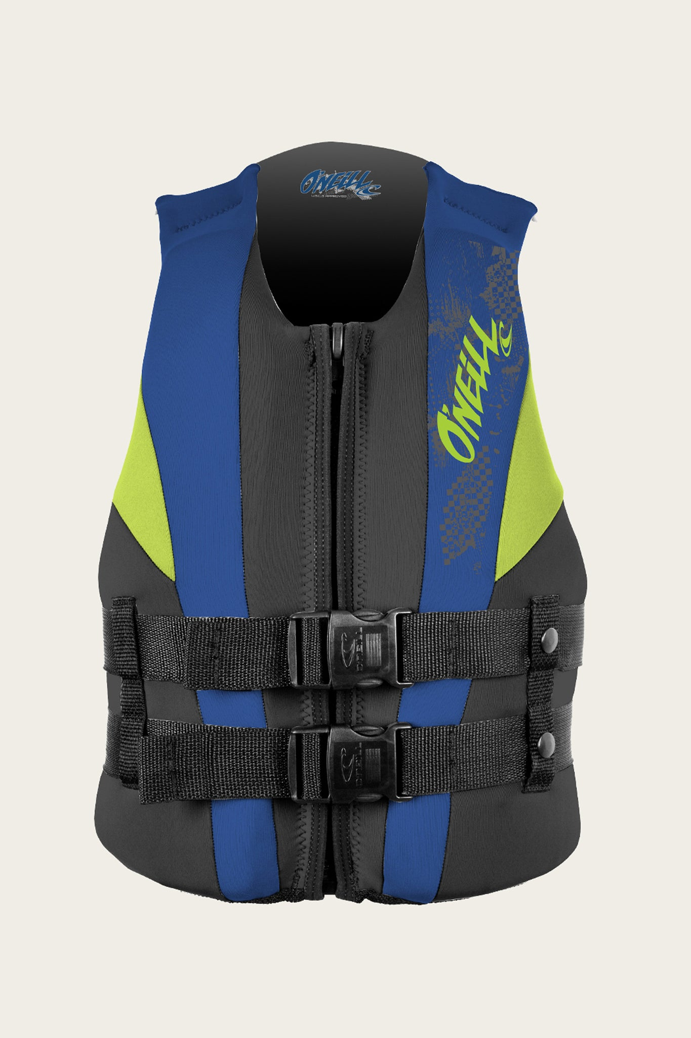 Youth Reactor Uscg Vest - Blk/Pac/Dayglo | O'Neill
