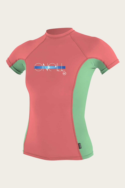 GIRL'S PREMIUM SKINS S/S RASH GUARD