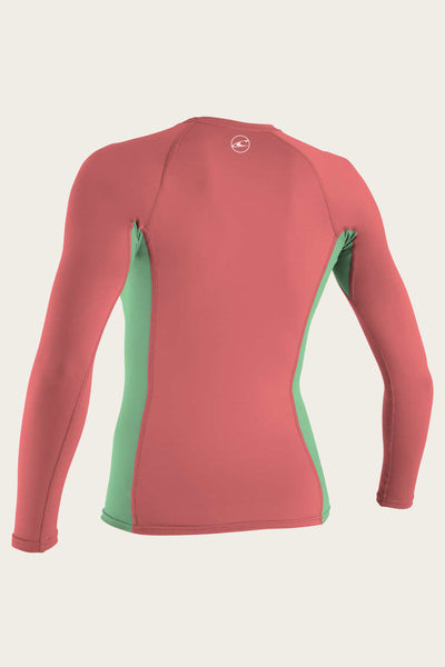 GIRL'S PREMIUM SKINS L/S RASH GUARD