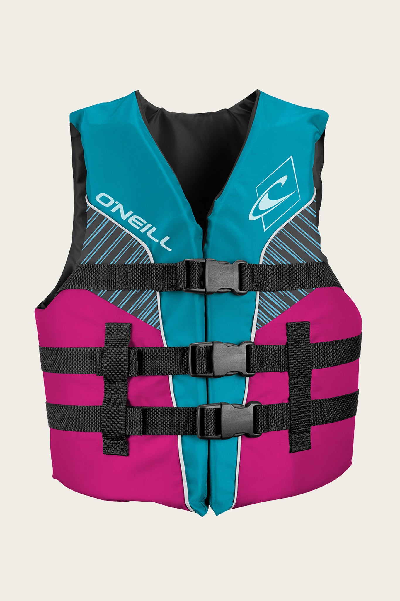 Youth Superlite Uscg Vest - Turq/Berry/Smoke:Wht | O'Neill