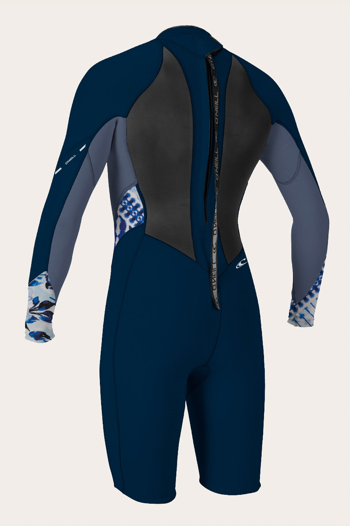 Women's Bahia 2/1Mm Back Zip L/S Spring Wetsuit - Nvy/Mist/Indpatch | O'Neill