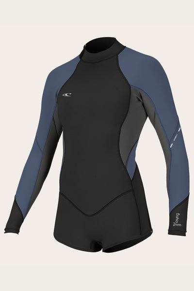 WOMENS BAHIA 2/1MM L/S SHORT SPRING WETSUIT ...