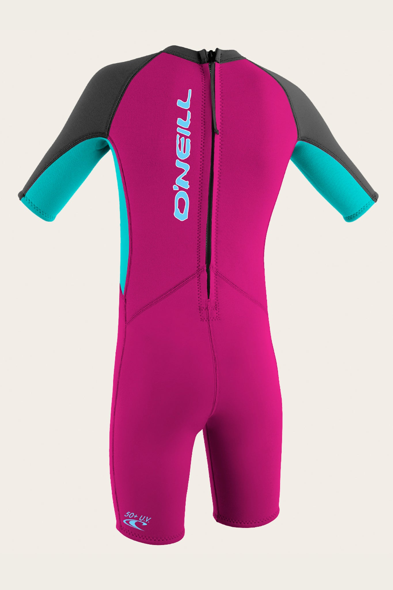 Toddler Reactor Ii 2Mm Back Zip S/S Spring Wetsuit - Bry/Aqua | O'Neill