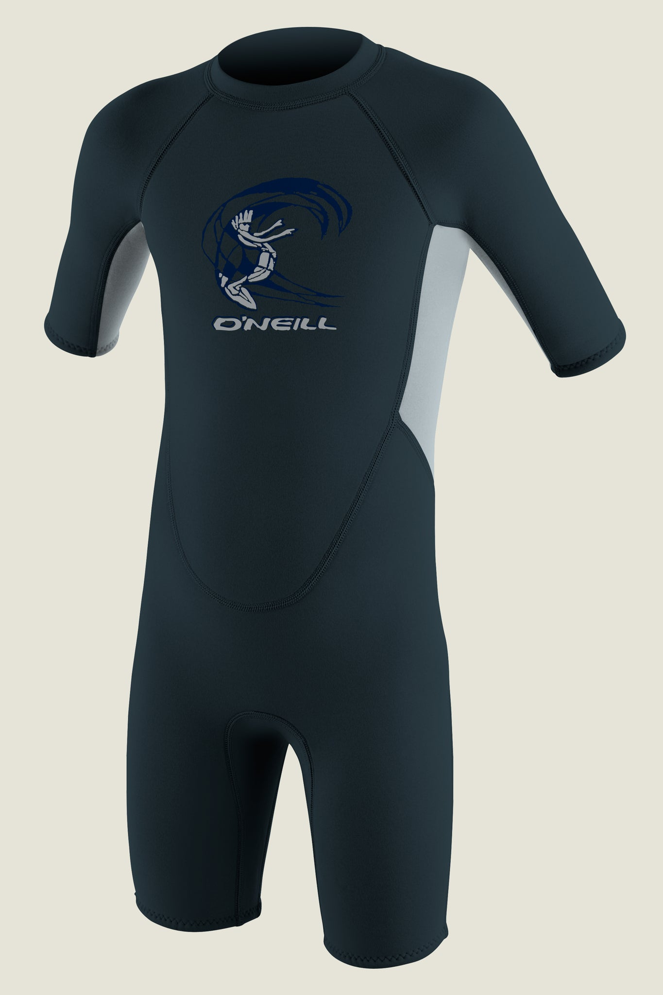 Toddler Reactor Ii 2Mm Back Zip S/S Spring Wetsuit - Slate/Coolgry/Slate | O'Neill