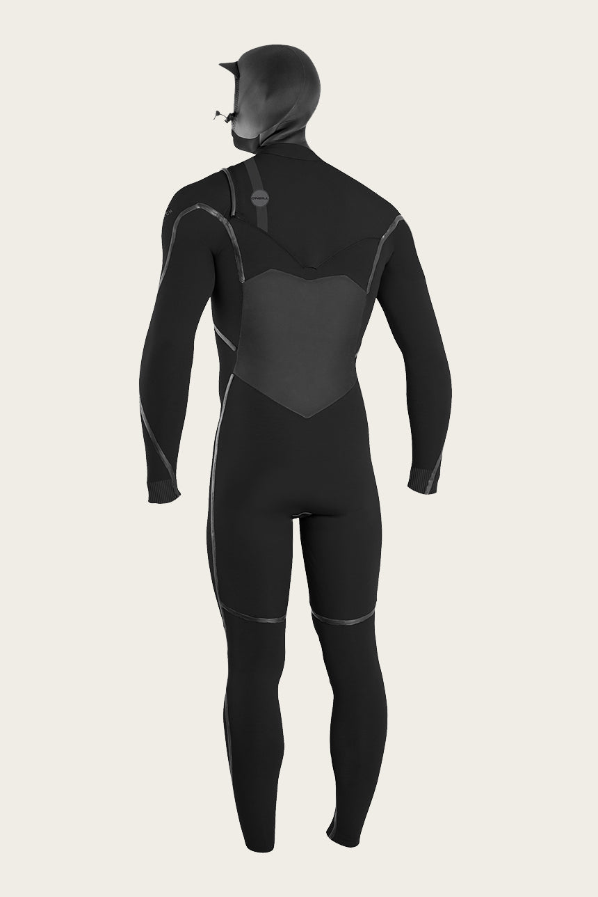 Psycho Tech 4/3Mm Chest Zip Full W/Hood Wetsuit - Blk/Blk | O'Neill