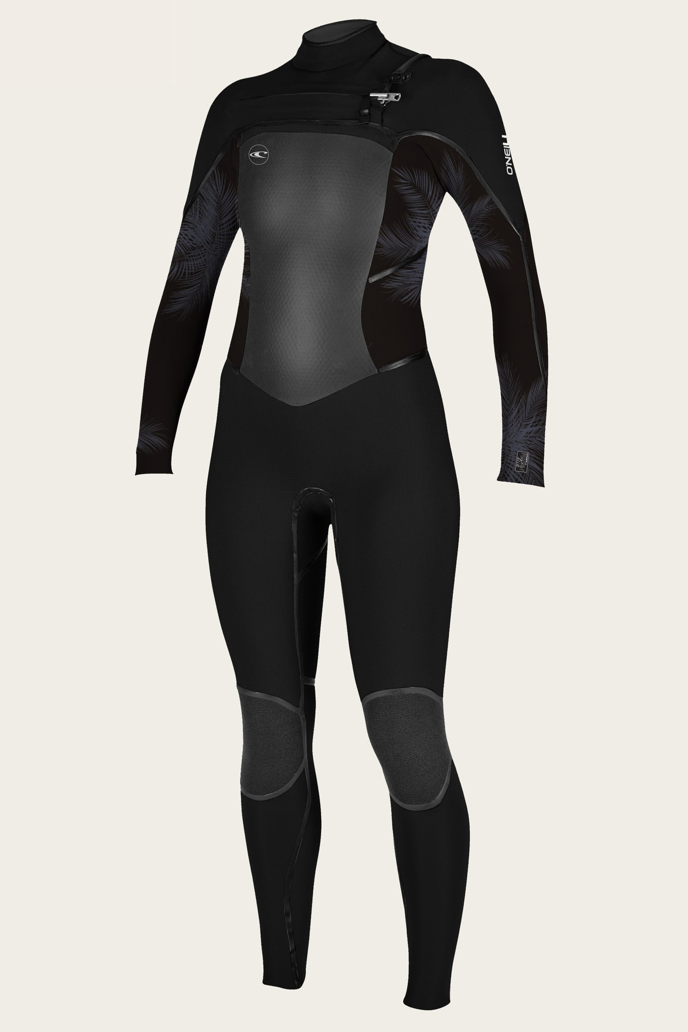 Women'S Psycho Tech 4/3Mm Chest Zip Full Wetsuit - Blk/Hrbrmst/Blk | O'Neill