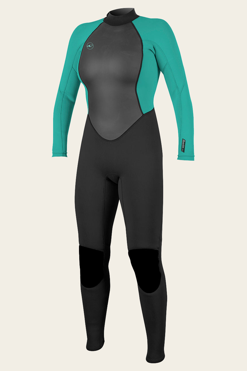 Women's Reactor Ii 3/2Mm Back Zip Full Wetsuit - Blk/Light Aqua | O'Neill