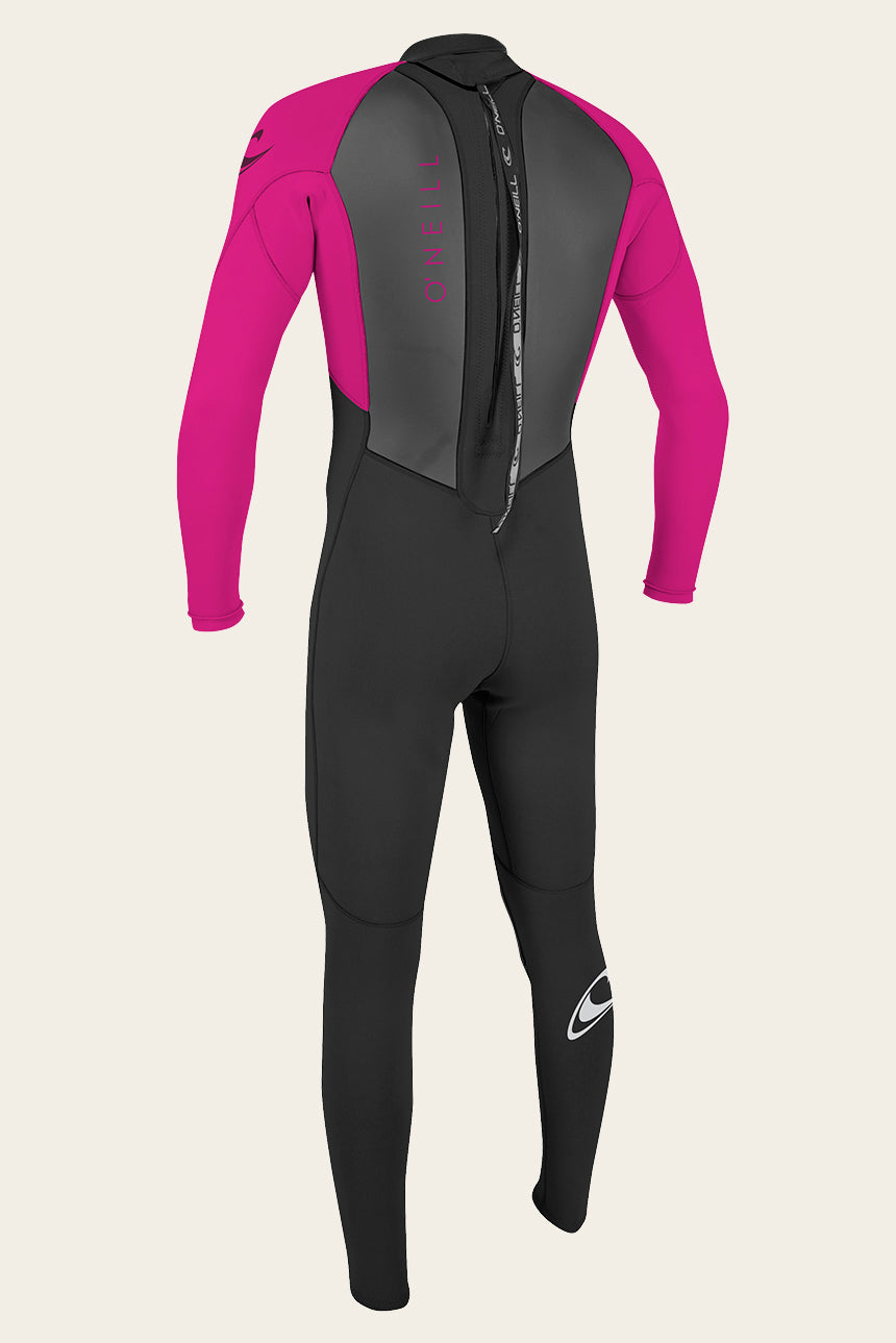 Youth Reactor Ii 3/2Mm Back Zip Full Wetsuit - Blk/Berry | O'Neill