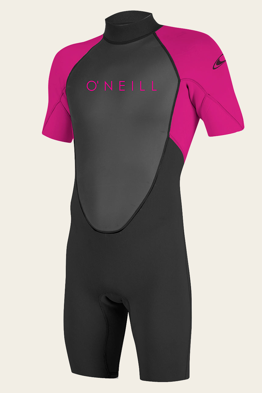 Youth Reactor Ii 2Mm Back Zip S/S Spring Wetsuit - Blk/Berry | O'Neill