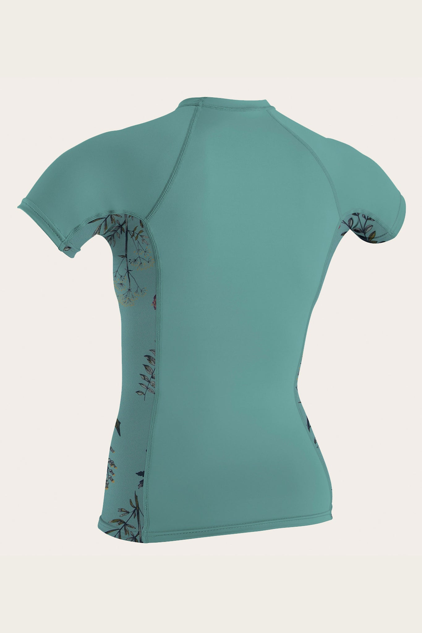 Womens Side Print S/S Rash Guard - Aquahaze/Piperflrl | O'Neill