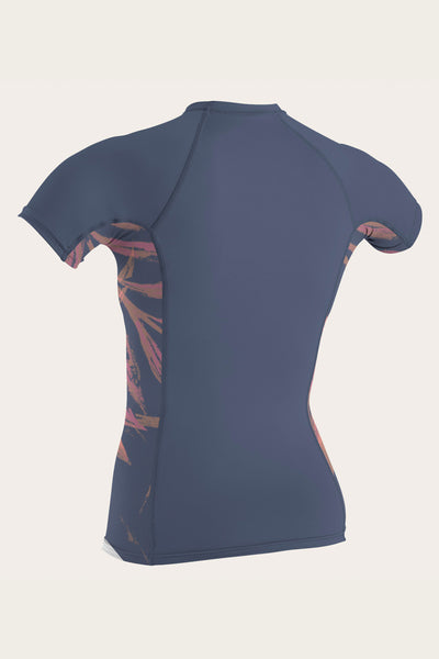 WOMENS SIDE PRINT S/S RASH GUARD