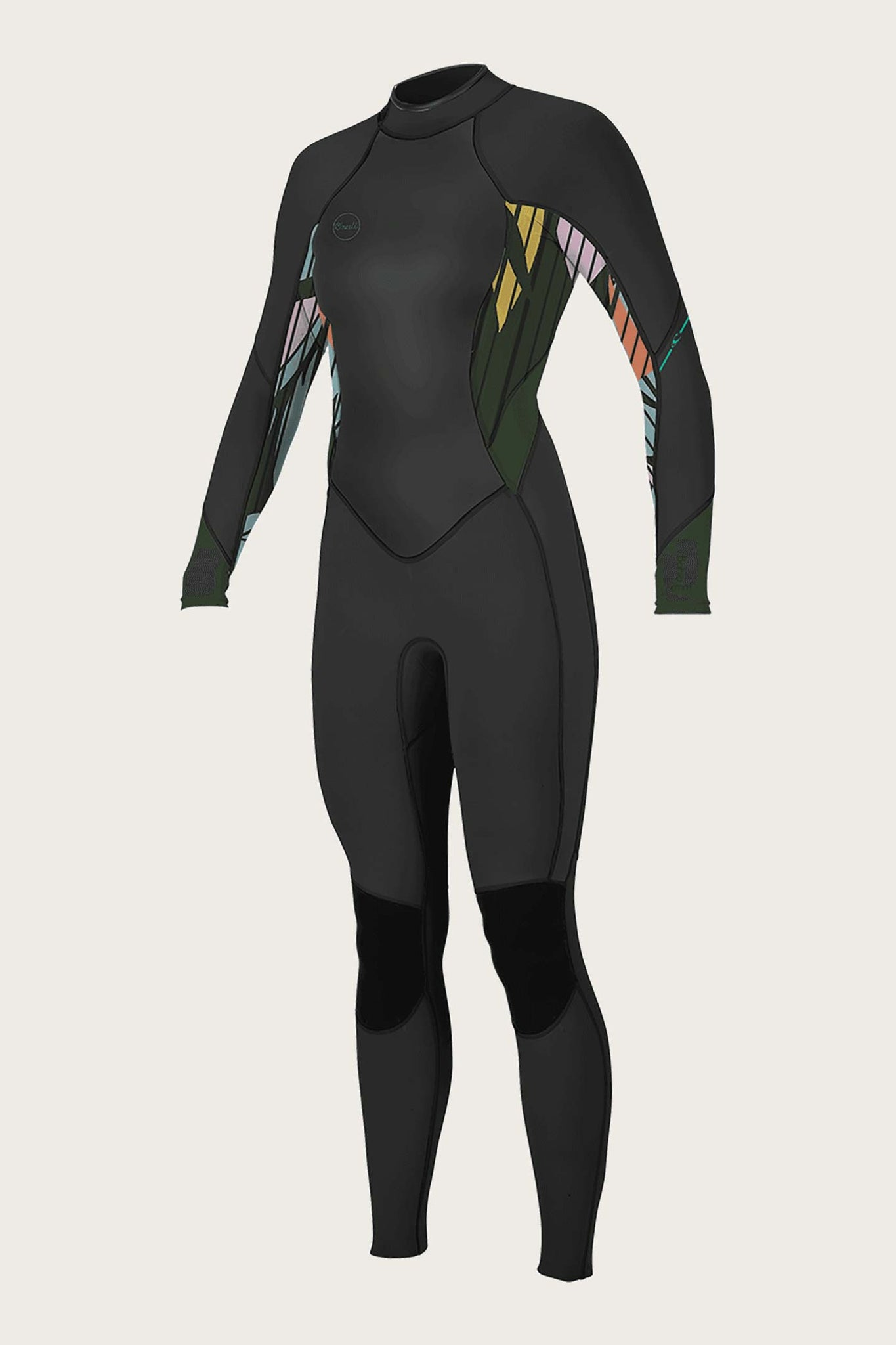 Women's Bahia 3/2Mm Back Zip Full Wetsuit - Blk/Baylen/Dkolive | O'Neill